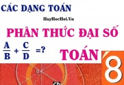 Các dạng toán về Phân thức Đại số và bài tập vận dụng - Toán lớp 8